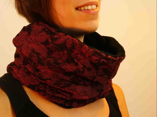 col snood brique brillant